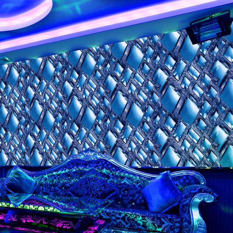 Very Luxury 3D Wall Paper Entertainment KTV Gold Foil