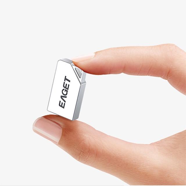 Eaget U85 Super Mini Usb 3.0 Pen Drive 16GB 32GB 64GB Metal Usb Flash Drive Custom Logo Usb Stick Mobile Storage Devices
