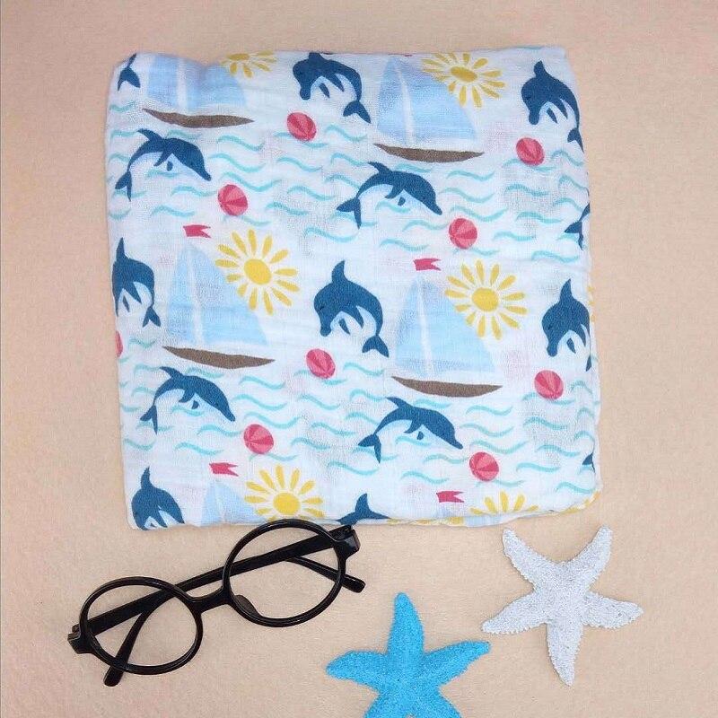 The Dinosaur Muslin Baby Blankets Swaddle 100% Orgainc Cotton Soft Newborn Multifunctional Blanket Receiving Blankets Baby Batch