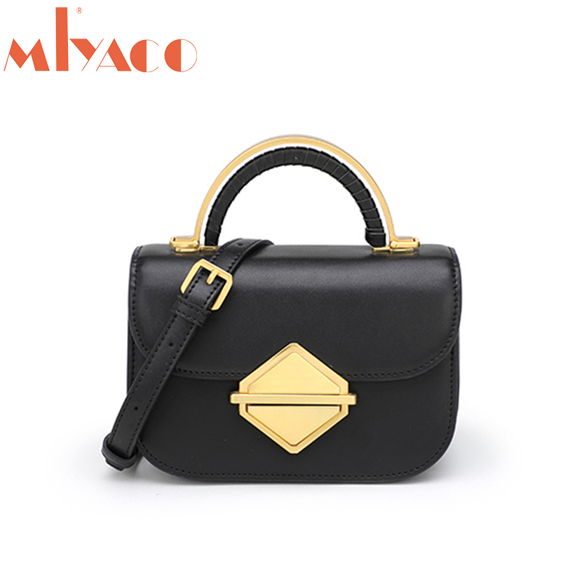 MIYACO Mini Handbag Women Crossbody Bags Genuine Leather Small Messenger Bags 2019 spring New