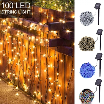 LED Solar Fairy String Lights Premium Quality Waterproof outdoor Lighting For Christmas Holiday Party Garden Decoration