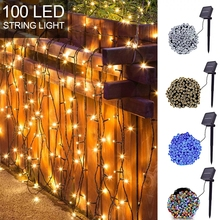 LED Solar String Fairy Lights Premium Quality Waterproof outdoor Lighting For Christmas Holiday Party Garden Decoration все цены