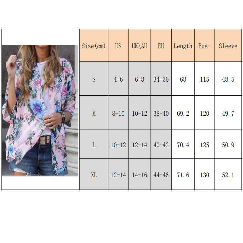 春夏日焼けブレザーレディース花柄カジュアルジャケットコート女性生き抜くスーツトップス着物カーディガン