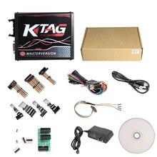 KTAG V7.020 Master EU 4 светодиодный V2.23 ECU чип тюнинг инструмент онлайн версия красный pcb с неограниченными жетонами