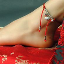 women anklets wholesale new accessories DIY bell retro foot rope jewelry anklet cheville enkelbandje marry gift