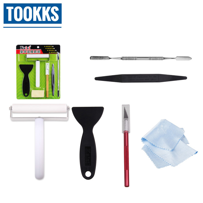 Full Set Kaisi <font><b>Phone</b></font> Repair Set Anti-static Silicone <font><b>Roller</b></font> Knife Metal Plastic Pry For <font><b>Phone</b></font> disassembly Opeing Hand Tool