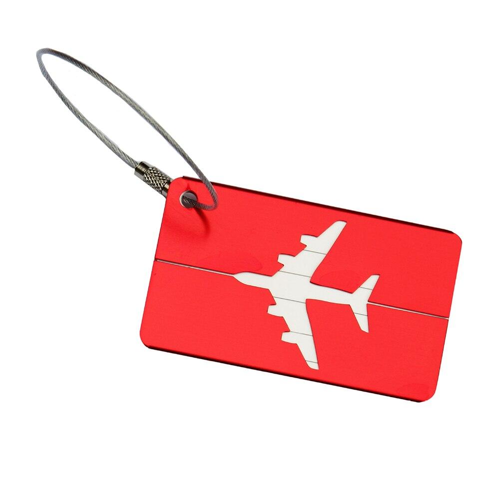 Address-Tags Label Suitcase Aluminum Metal 1pcs Name-Id Drop-Ship