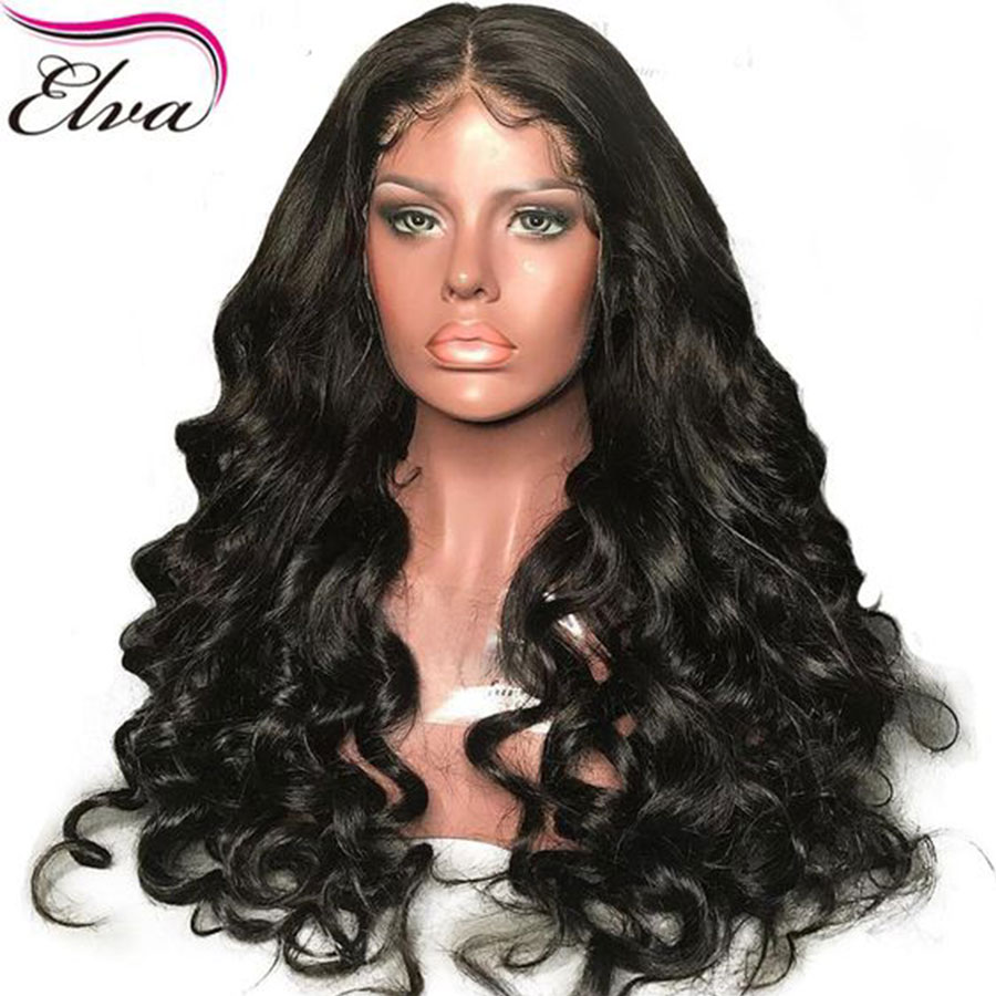 Elva Hair 13x6 Lace Front Human Hair Wigs For Black Women Brazilian Remy Hair Loose Wave Wig With Baby Hair Pre Plucked Hairline