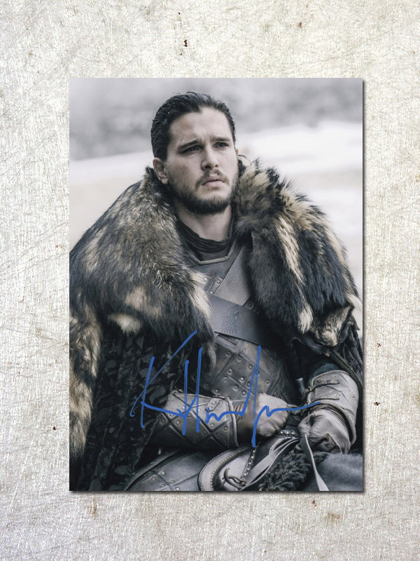 signed Kit Harington Game of Thrones autographed original photo 7 inches free shipping  092017A a game of thrones