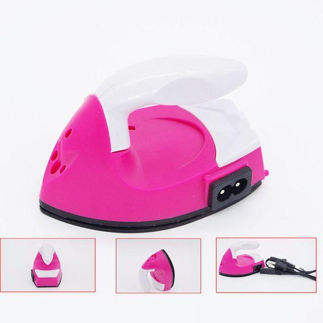 DIY Mini plancha de vapor eléctrica para Hama Plantilla de cuentas para Hama puzles Melty begaboards Perler accesorios de herramientas de cuentas