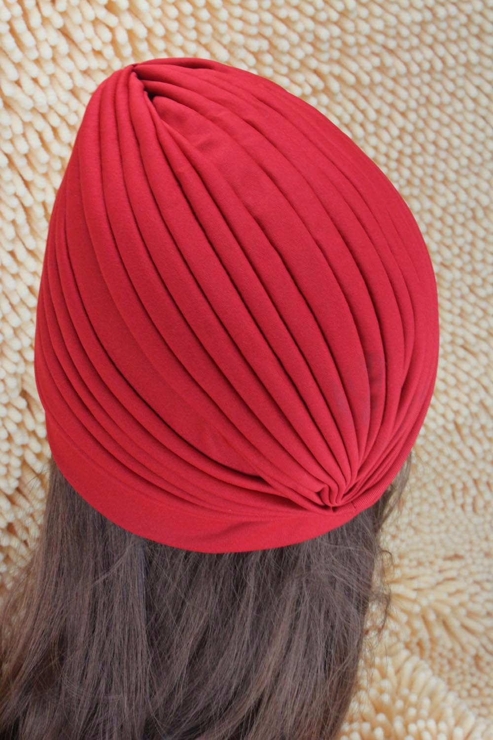 2016 New Fashion Women Turban Hat Bohemia 21 Solid Color Fold Beanies Female Simple Autumn Bonnet Indian Turban Hats For Women (4)