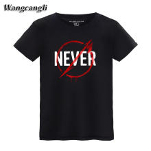 wangcangli Metallica NEVER Band t font b shirts b font font b men b font fashion