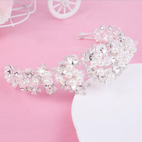 Nastro Foglia ornamenti per capelli accessori per capelli da sposa nuziale Imitazione Perla Perline Gioielli copricapo da sposa copricapo fascia