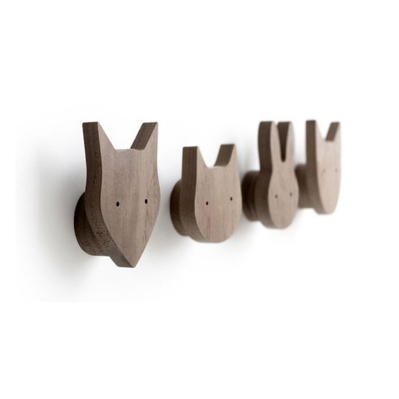 Hooks Modern Creative Walls Solid Wooden Hooks Hooks Walls