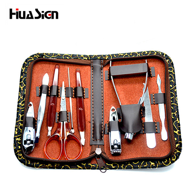 10pcs/set Professional Stainless Steel Nail Clippers Kit Manicure ...