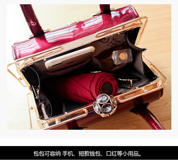 tote frame sacos couro patente marca designer