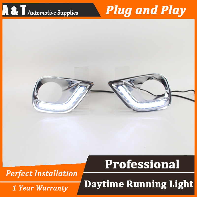 car styling For Toyota RAV4 LED DRL For RAV4 High brightness guide LED DRL led fog lamps daytime running light For C style auto clud car styling for toyota highlander led drl for highlander high brightness guide led drl led fog lamps daytime running l