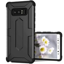 Yokata роскошный армированный жесткий чехол из поликарбоната для samsung Galaxy Note 8 чехол-Бампер Защитный 2 в 1 ТПУ противоударный Защита от падения бизнес