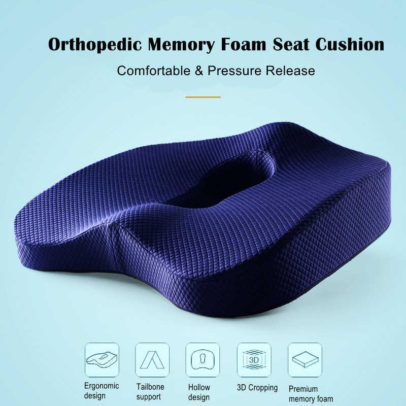 非スリップのための整形外科低反発シートクッションオフィス車椅子バックサポート坐骨神経痛尾骨尾骨疼痛緩和