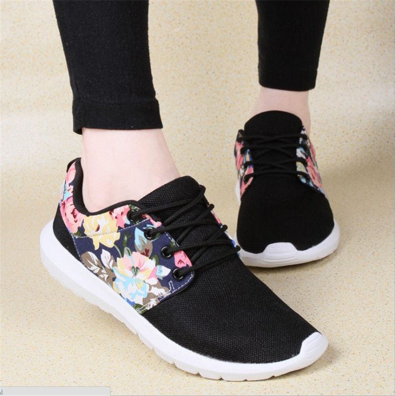 Women Casual Shoes Summer Breathable Basic Fashion Flower Summer Shoes Women Comfort Ladies Causal Flats Shoes Footwear DYD95