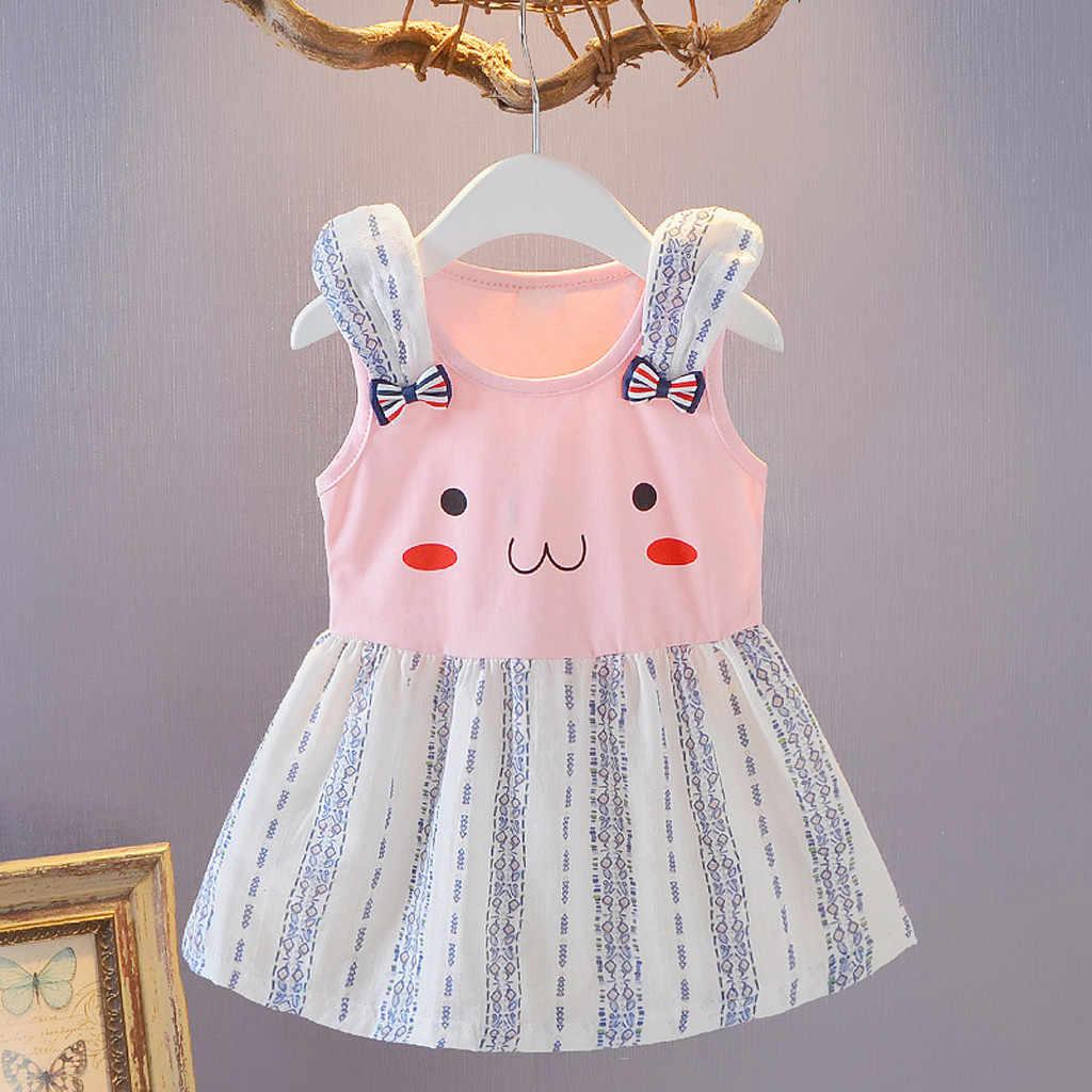Летнее платье для маленьких девочек; платья принцессы для маленьких девочек; вечерние платья с бантиком и рисунком кролика на свадьбу; SZYADEOU vestidos bebes; L5