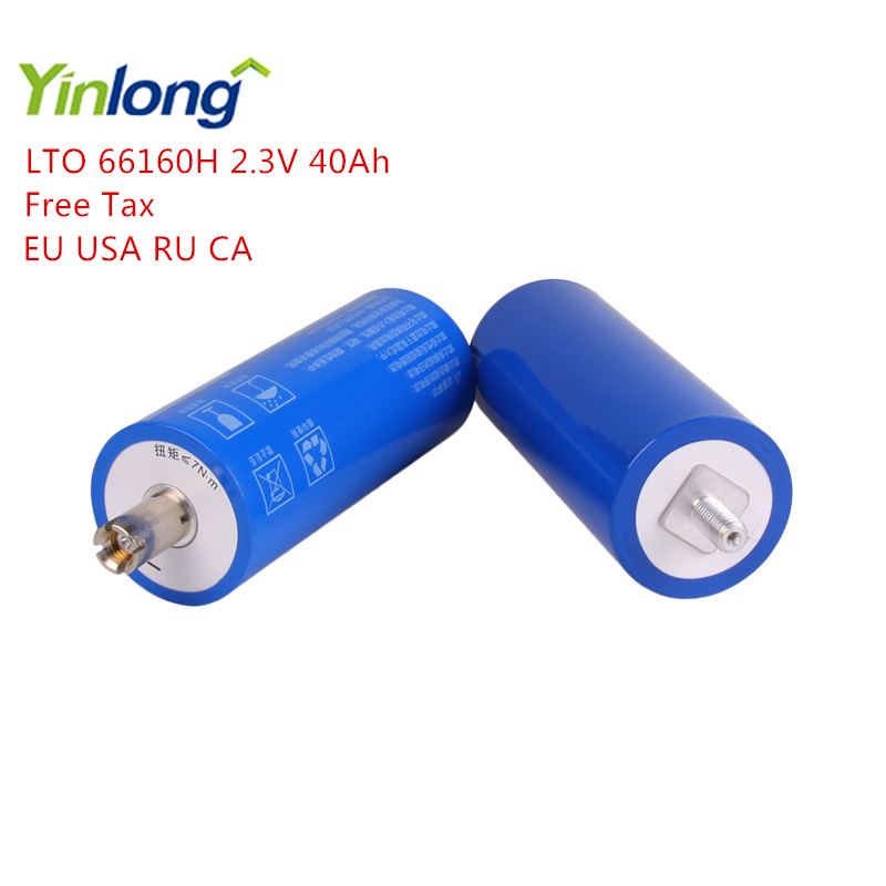 Yinlong LTO66160H 2.3V 40Ah Cylindrical Lithium ion battery Titanium Oxide LTO <font><b>66160</b></font> Titanate Battery for Electric vehicles image