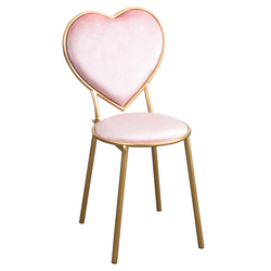 2018 Time-limited Sedie Lounge Chair Nordic Heart Chair Iron Dining Nail Coffee Gold Dresser Velvet Leisure Chair Metal Modern