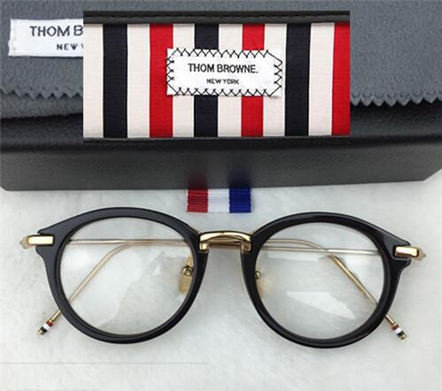 69be9ccc7871 Men Women Thom Browne tb011 TB 011 Optical acetate prescription spectacle  round alloy Myopia Eye glasses Frame Eyeglasses Frame-in Eyewear Frames  from ...