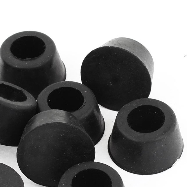 High Quality 10 Pcs 15mm Dia. Cone Shaped Furniture Black Rubber Foot Covers Pads rubber round table foot cover protector 8mm inner dia 24 pcs