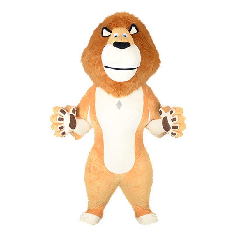 Lion roi Mascotte Gonflable Pour adulte Cosplay Kits mascotte Carnaval Alex Aragon Costumes Mascotte costume