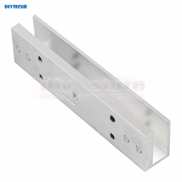 Diysecur U Shape Bracket 280kg Magnetic Lock For Frameless Glass