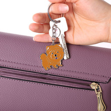 Keyring Jewelry Puppy-Keychains Chow Chow Dachshunds Wholesale Metal Bag Pet Dogs DIY