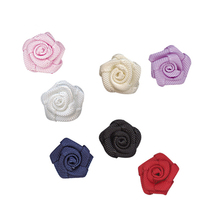 10mm Satin Ribbon Roses Flowers  Bow Wholesale 1/2 Inch With Single Face Made By Hand for Box Decoration Crafts