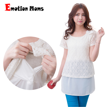 Emotion Moms New Fashion Summer Maternity Clothes for Pregnant Women Lace Breastfeeding Maternity Tops pregnancy clothes emotion moms summer autumn fashion pregnancy maternity clothes modal pregnant dress for pregnant women maternity dresses