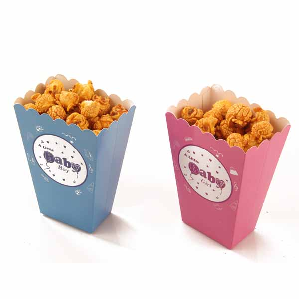 Baby Shower Popcorn Paper Boxes For Baby Shower Favors 24pcs In Gift