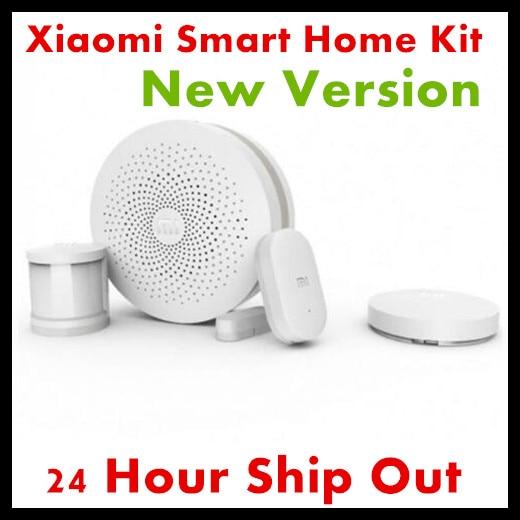 2017 New Version Original Xiaomi Smart Home Kit Gateway Door Window Sensor Human Body Sensor Wireless Switch Smart Devices Sets