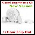 2017 nueva versión original xiaomi smart home kit de puerta de enlace puerta ventana del sensor del cuerpo humano sensor inalámbrico interruptor inteligente dispositivos conjuntos