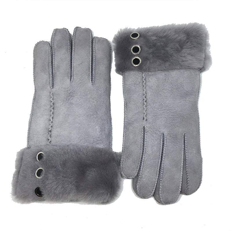 100 Pure Sheepskin Winter Gloves Women Real Cashmere Fur Warm Gloves Ladies Full Finger Genuine Leather mitten gloves Gift NM5 in Women 39 s Gloves from Apparel Accessories