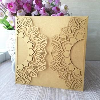 30pcs Pure white Lace Vintage Elegant Royal Wedding Decotation Invitaiton Card Engagement Card Congratulation Greeting Card