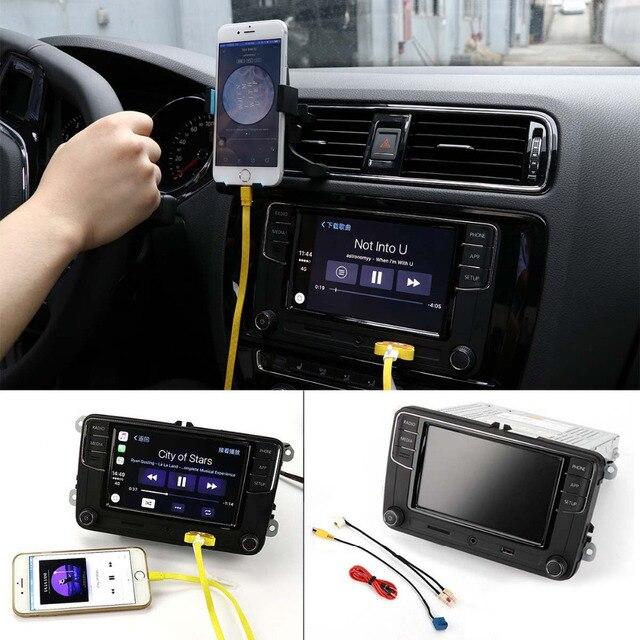 "TAIHONGYU 6.5"" MIB Original Car Play Radio RCD330 Plus for VW Golf Polo Jetta CC Tiguan Passat w/Cable 6RD 035 187 B Version B"
