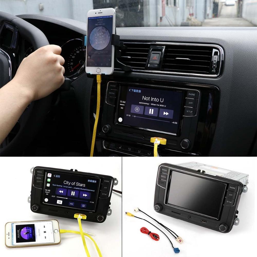 TAIHONGYU 6.5 MIB Original De Voiture Jouer Radio RCD330 Plus pour VW Golf Polo Jetta CC Tiguan Passat w/ câble 6RD 035 187 B Version B
