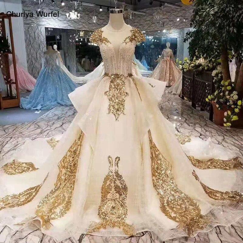 LSS418 vestidos de fiesta de noche elegant evening dresses golden sequins cap sleeves lace up back