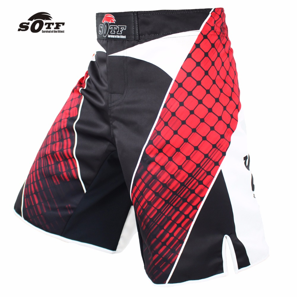 SOTF Tiger Muay Thai geometric red fitness sports boxing fierce fierce fighting shorts mma shorts kickboxing muay thai clothing