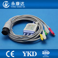 Nihon kohden OEC-6120A 3lead Ecg cable and 3leadwires with grabber/IEC 8-pin