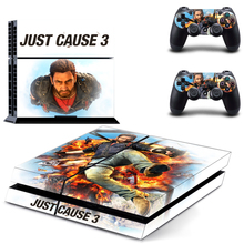 PS4 Skin Sticker Decal Cover of Just Cause 3 For Sony PS4 PlayStation 4 Console and 2 controller skins