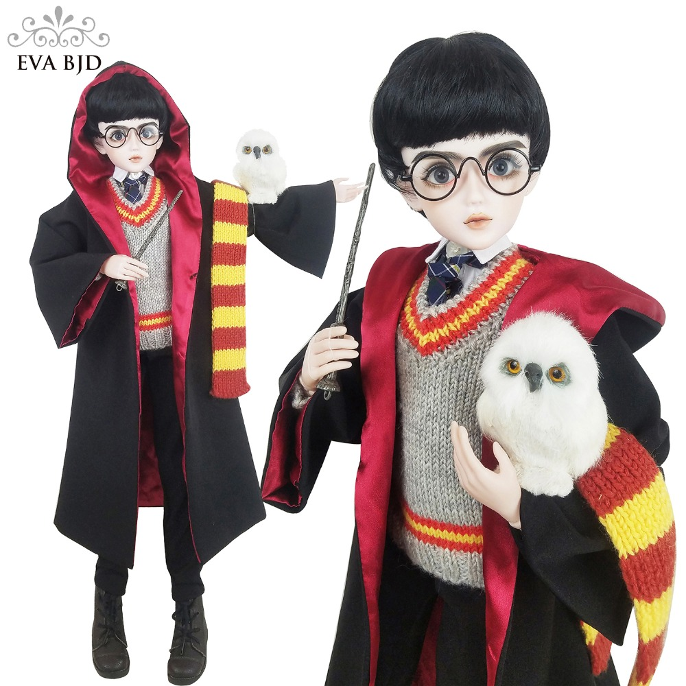 24 24 inch Full Set + 60cm SD Doll BJD Boy 1/3 jointed dolls Cosplay for Harry Potter Toy Action Figure + Clothes + Makeup Gift аксессуары для косплея no 60cm cosplay