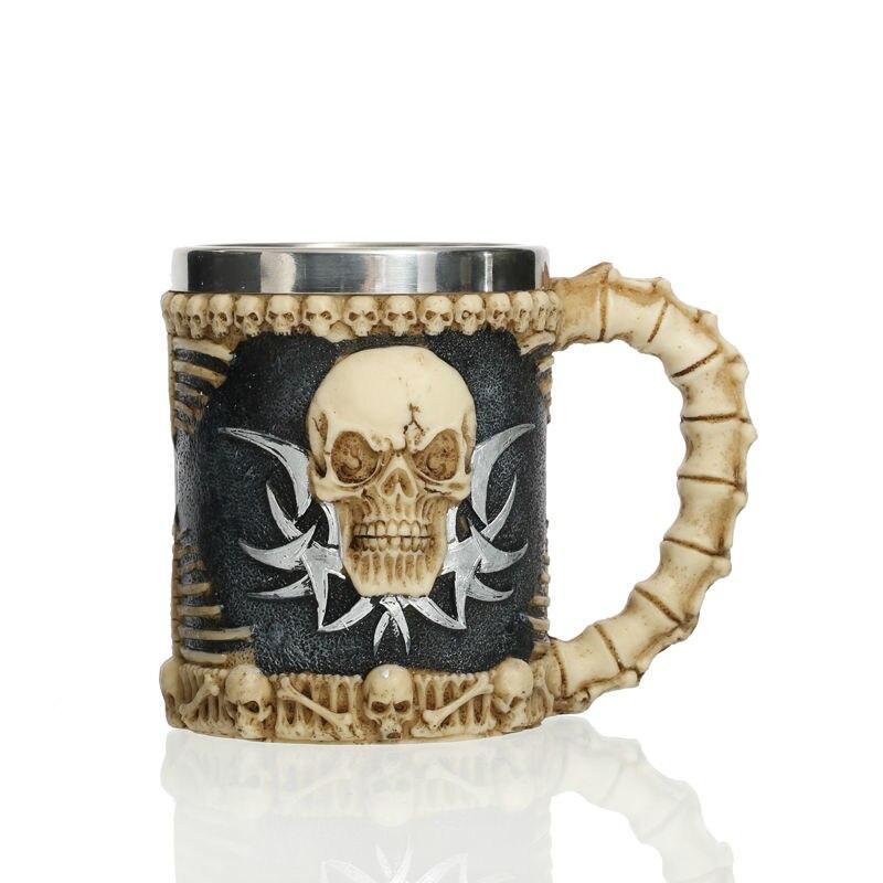 Jolly Roger Drinking Skull Mug caneca the walking dead Tankard Horror Decor Cup for Viking