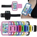 """5.5"""" Sport Armband Running Punch Cell Phone Leather Bag for Iphone 6 6S 7 Plus Galaxy S7 S6 Edge Arm band Wrist Case with Holder"""