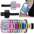 """5.5 """"esporte armband correndo saco soco de couro de telefone celular para o iphone 6 6 s 7 além disso galaxy s7 s6 edge arm band wrist caso com titular"""