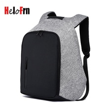 HeloFrn Men Backpack For Laptop 15.6 Business Anti-theft Bag USB Charging Waterproof Teenager Travel Mochila